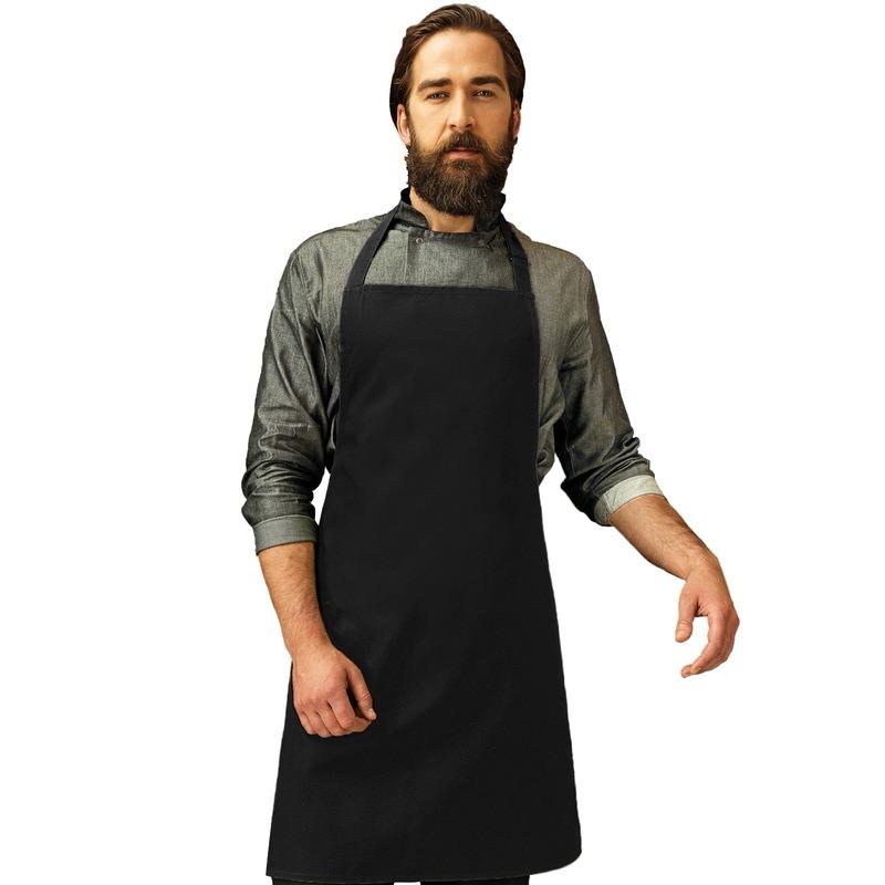 Zwart barbecue keukenschort voor volwassenen