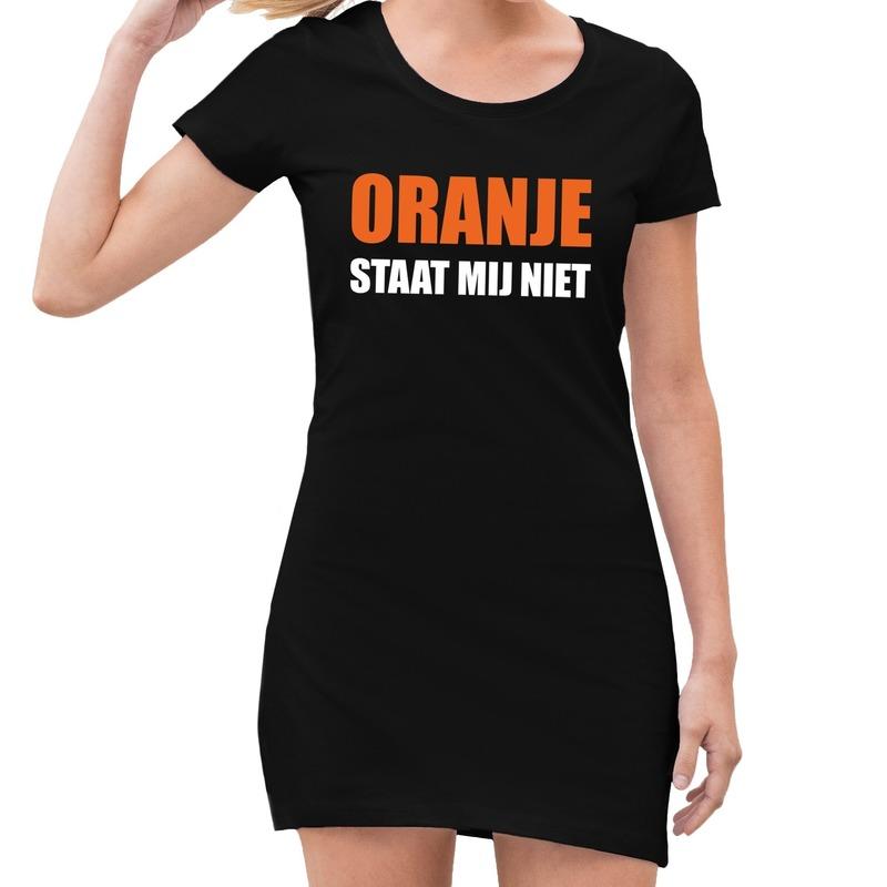 Zwart Oranje staat mij niet jurk dames