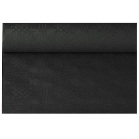 Zwart papieren tafellaken/tafelkleed 800 x 118 cm op rol