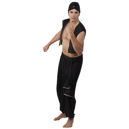 Zwart Sultan kostuum voor heren