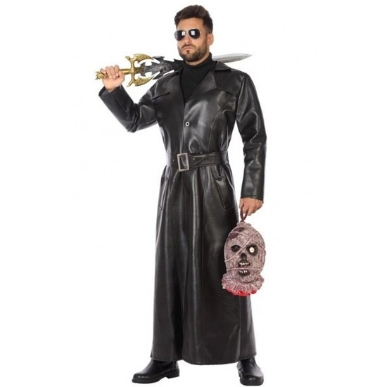 Zwart vampierjager verkleedkleding voor heren