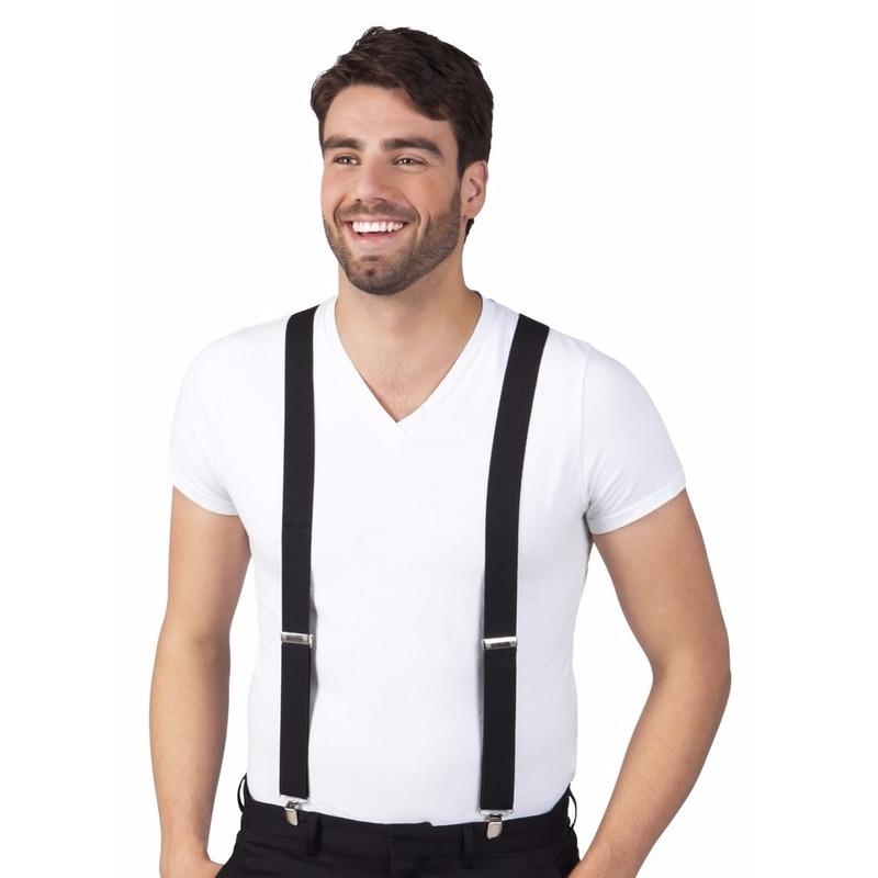 Zwarte bretels voor volwassenen