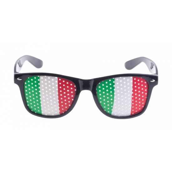 Zwarte Italie bril voor volwassenen