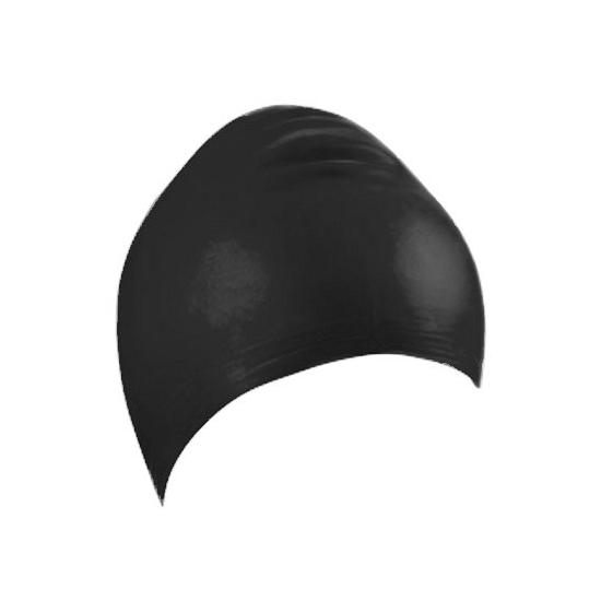 Zwarte latex badmuts voor volwassenen