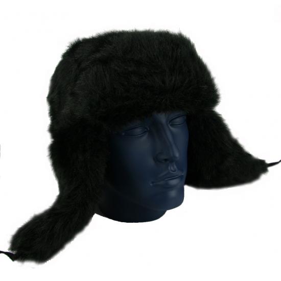 Zwarte Russische bontmuts polar
