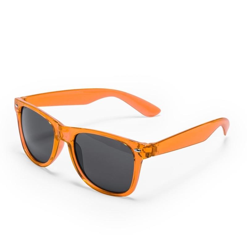 10x stuks Oranje retro model zonnebril voor volwassenen
