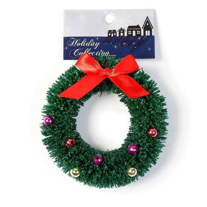 1x Kersthangers figuurtjes kerstkrans 10 cm