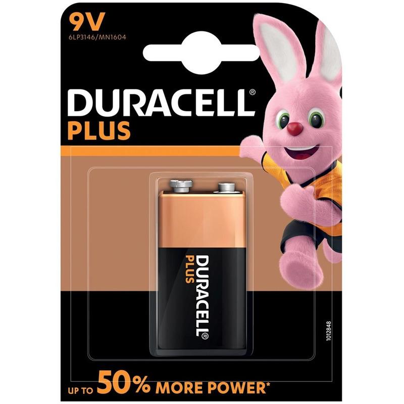 1x stuk Duracell V9 Plus batterij alkaline LR61 9 V