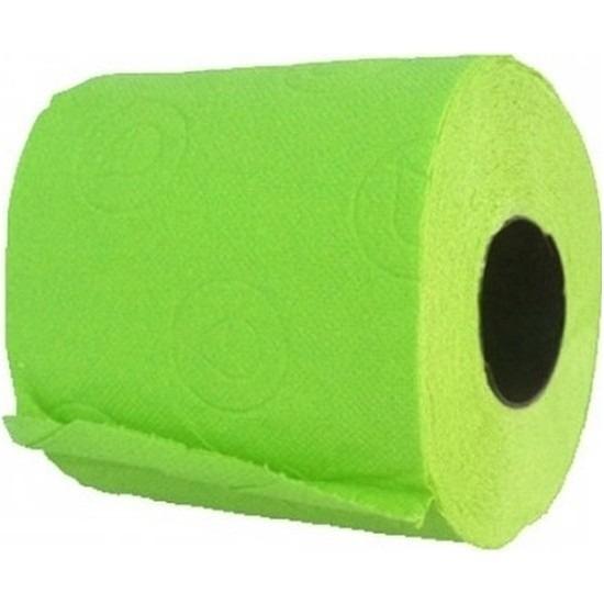 2x Groen toiletpapier rollen 140 vellen