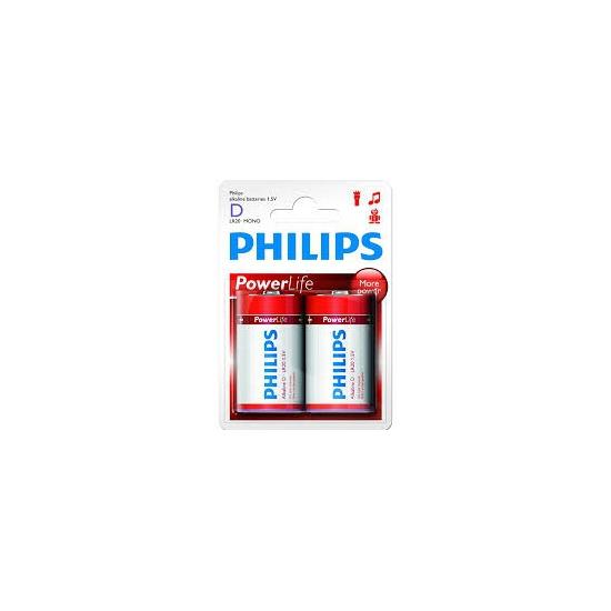 2x stuks Philips LR20 D batterijen