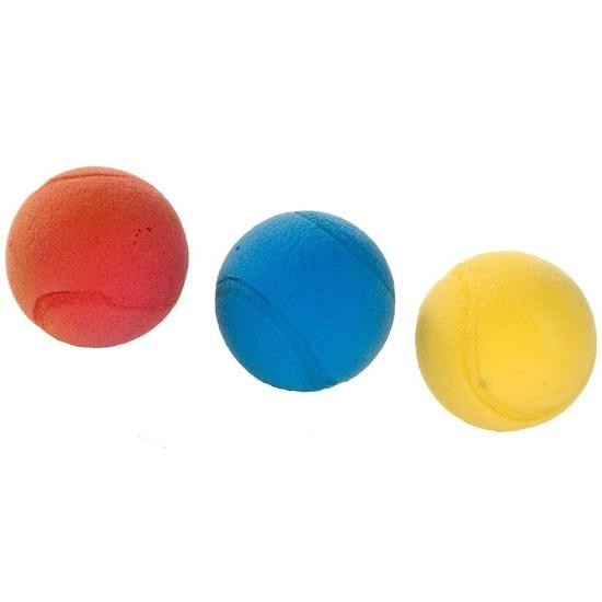 3x Foam/soft ballen gekleurd 7 cm