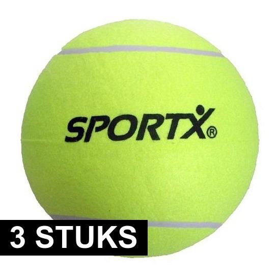 3x Jumbo super grote tennisballen XXL 22 cm