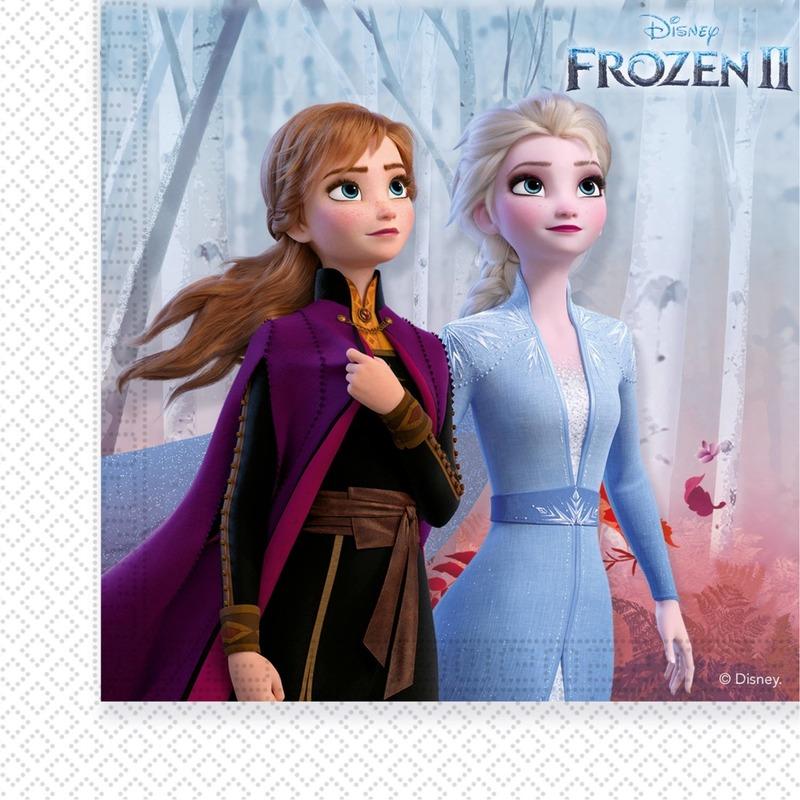 40x Disney Frozen 2 themafeest servetten 33 x 33 cm papier