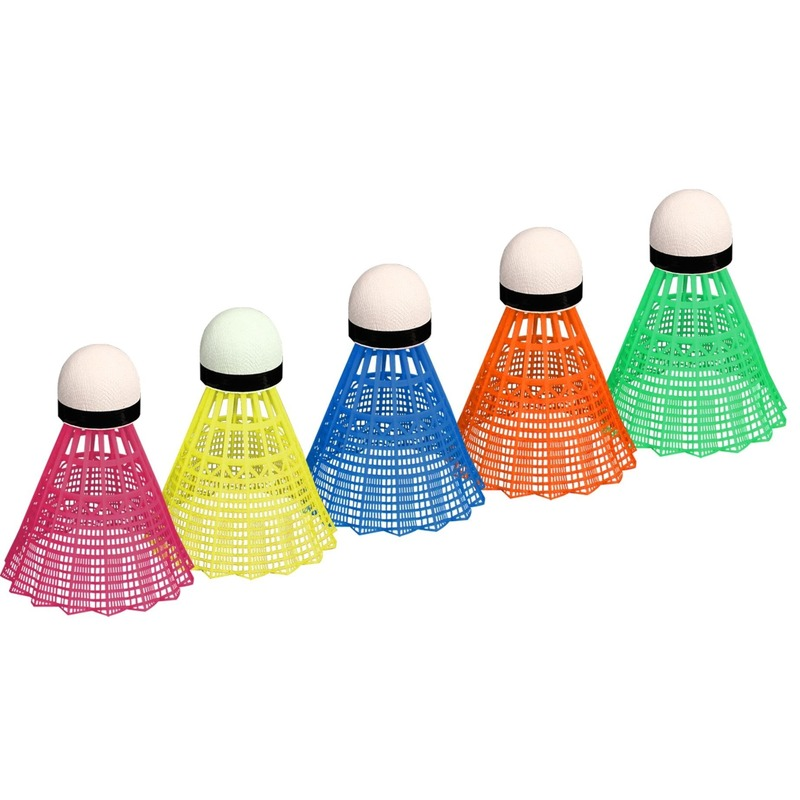 5x Gekleurde badminton shuttles