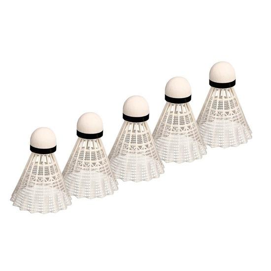 5x Witte badminton shuttles
