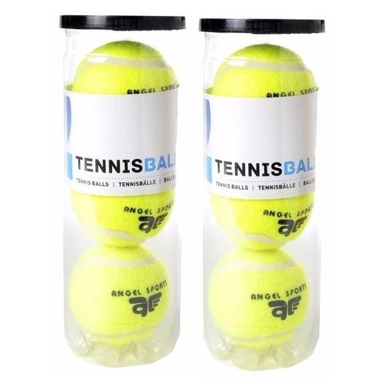 6x Tennisballen in koker