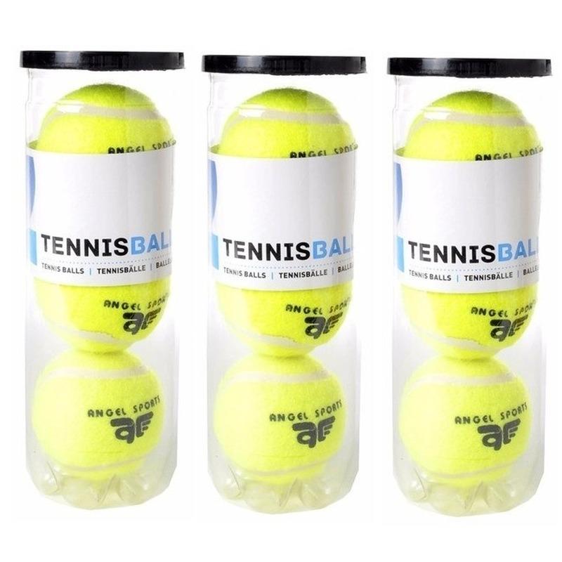 9x Tennisballen in koker