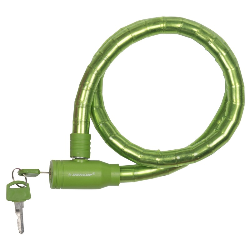 Fiets kabelslot groen 80 cm