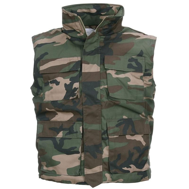 Groene camouflage bodywarmer