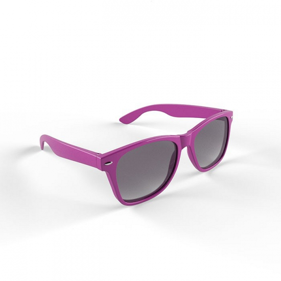 Hippe zonnebril met paars montuur