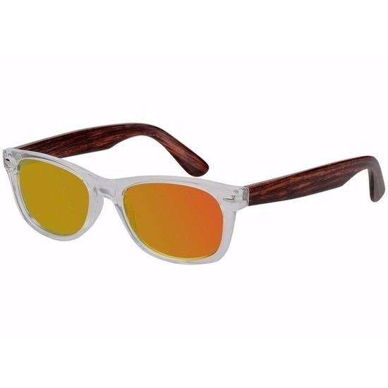 Houtlook dames zonnebril geel model 7112