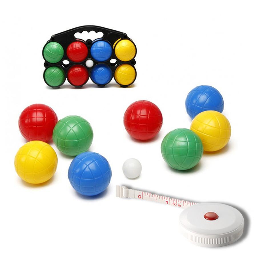 Jeu de boules set met 8 ballen + compact meetlint 1,5 meter