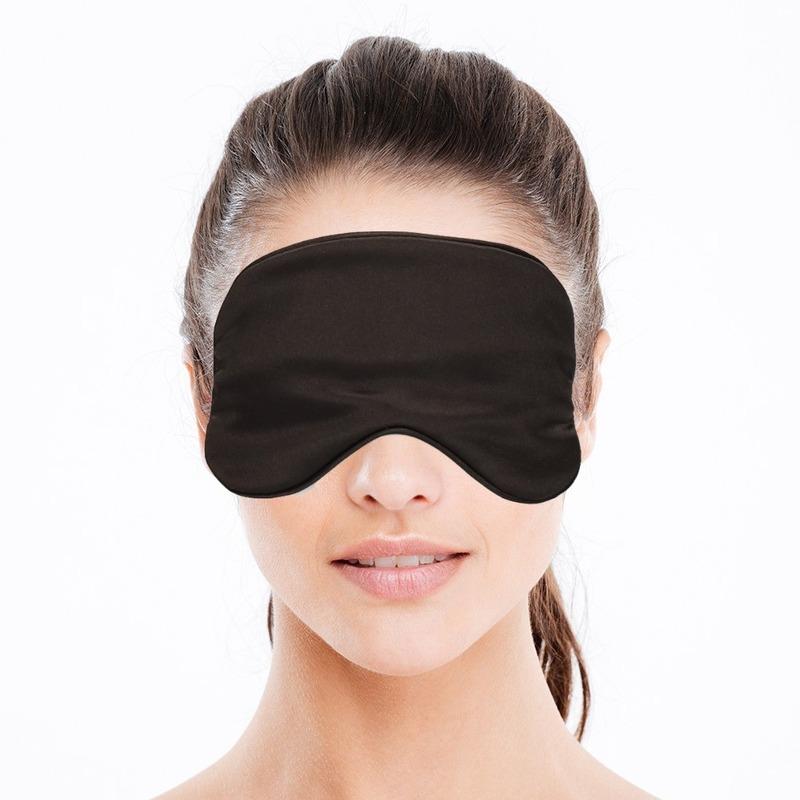 Luxe slaapmasker- reismasker met zachte vulling zwart