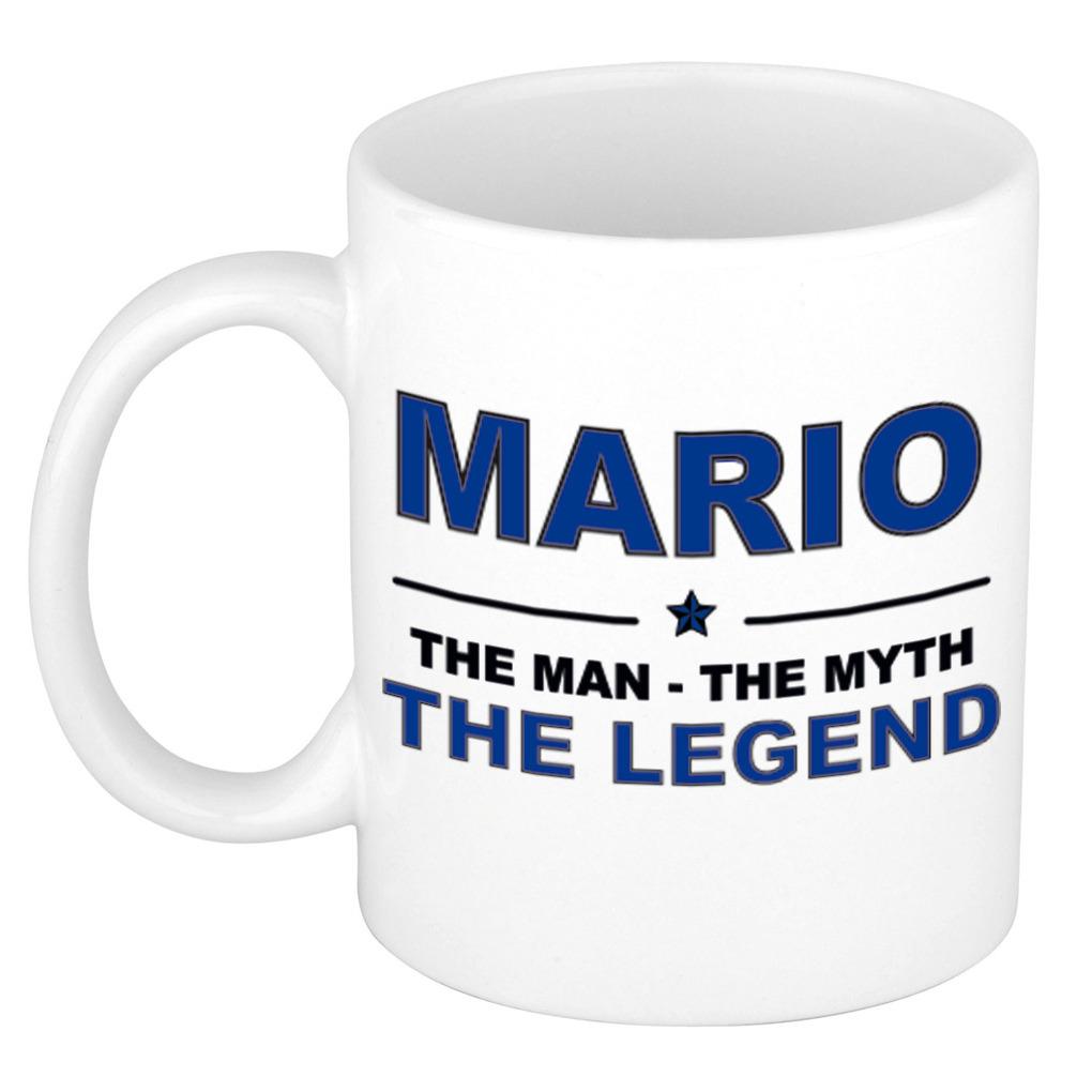 Mario The man, The myth the legend cadeau koffie mok - thee beker 300 ml