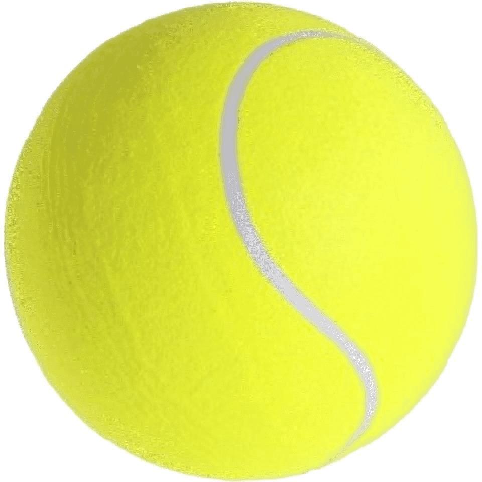 Mega tennisbal XXL geel 22 cm speelgoed/sportartikelen