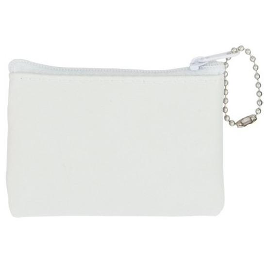 Mini portemonnee/portefeuille wit 8,5 x 6 cm
