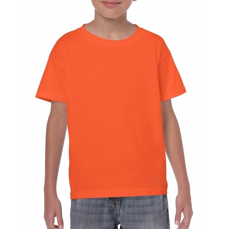Oranje kinder t-shirts 150 grams 100% katoen