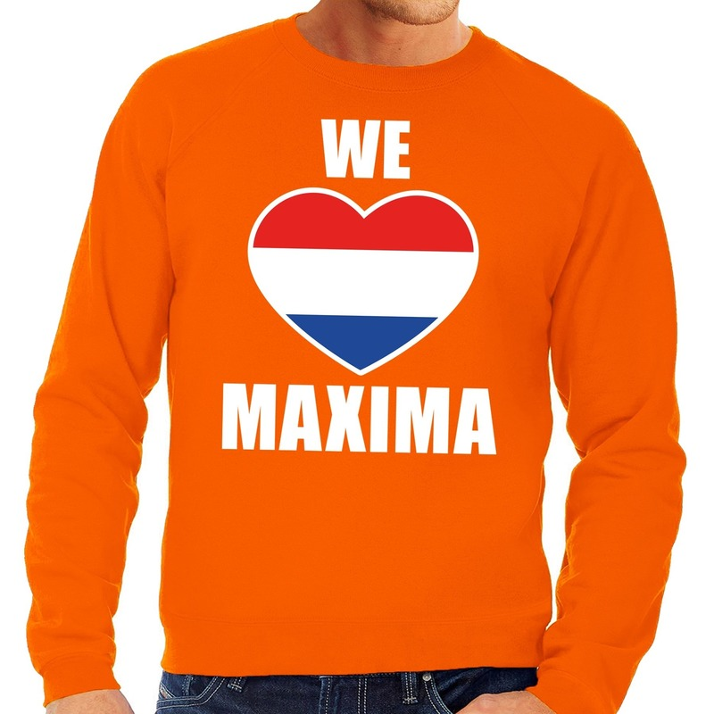 Oranje We Love Maxima sweater voor heren