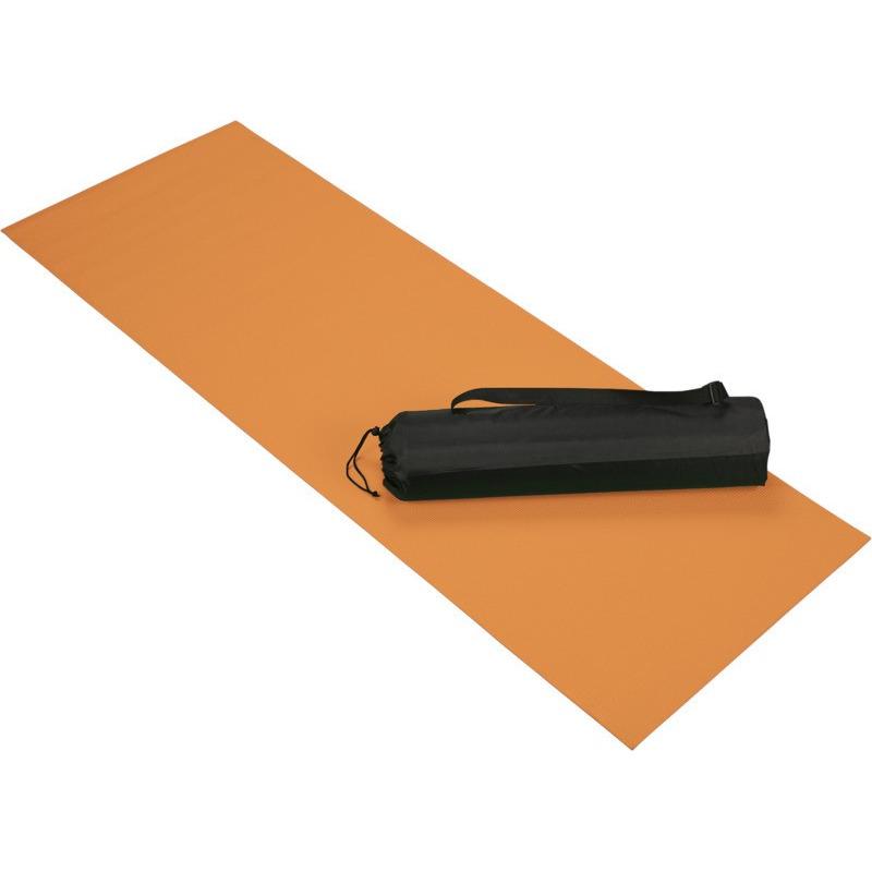 Oranje yoga/fitness mat 60 x 170 cm