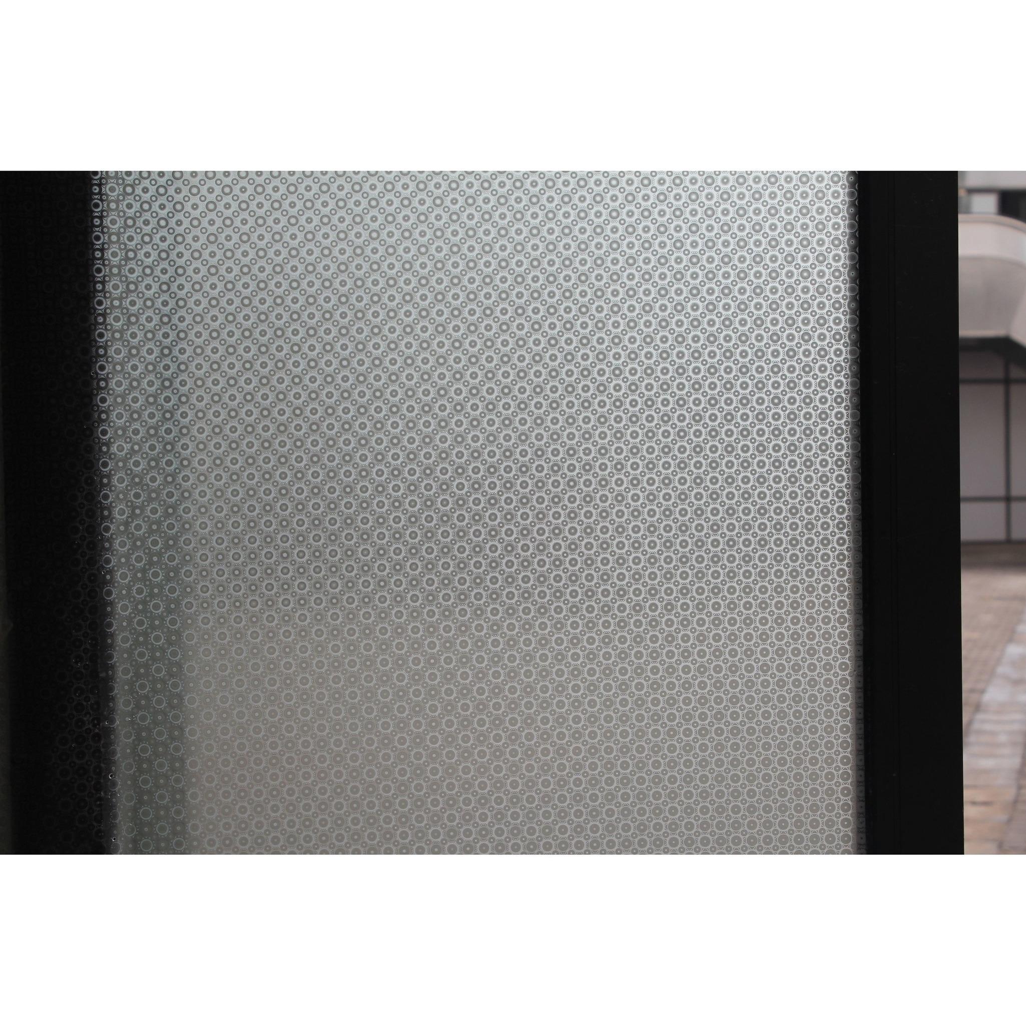 Raamfolie rondjes semi transparant 45 cm x 2 meter statisch