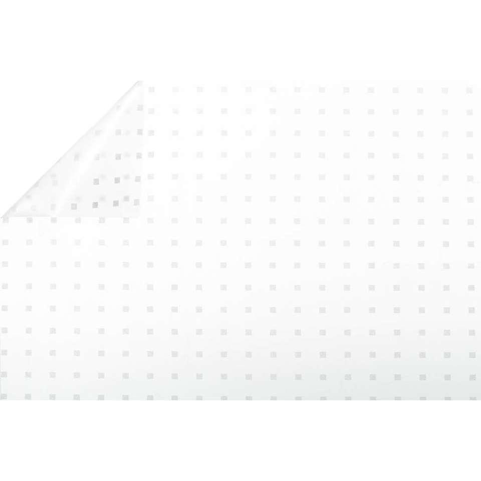Raamfolie vierkantjes semi transparant 45 cm x 2 meter zelfklevend