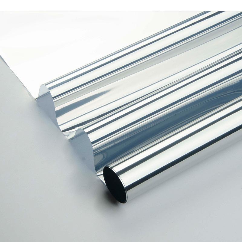 Raamfolie zonwerend semi transparant-zilver 60 cm x 2 meter statisch