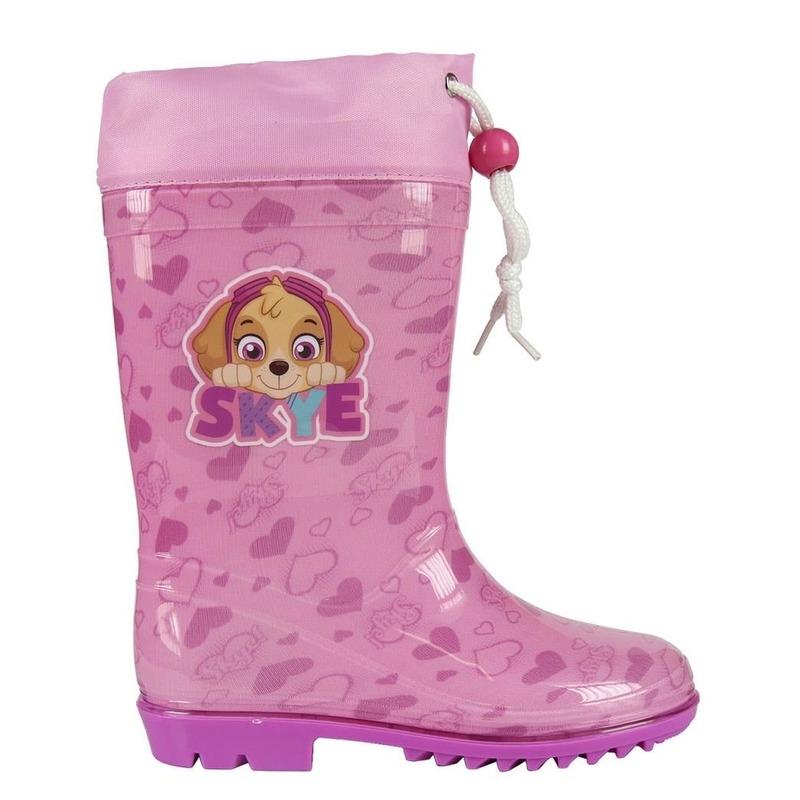 Roze Paw Patrol regenlaarzen met koord voor meisjes