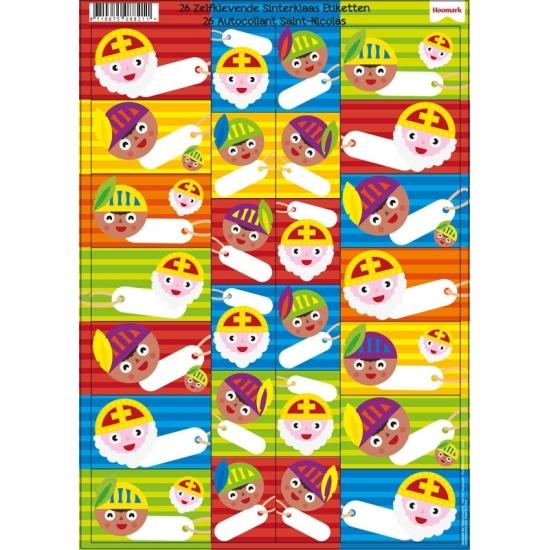 Sinterklaas cadeau stickers 26 stuks Cadeau /thema-feestartikelen/sinterklaas/kado-accessoires/sinterklaas-kado-versiering