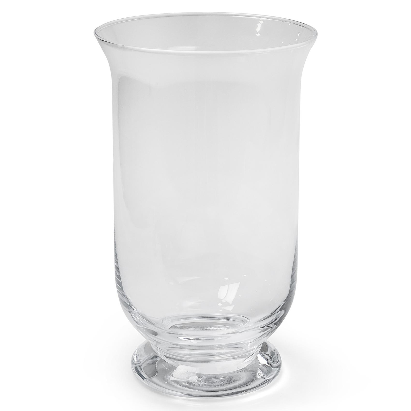 Transparante windlicht vaas-vazen van glas 15 x 25 cm