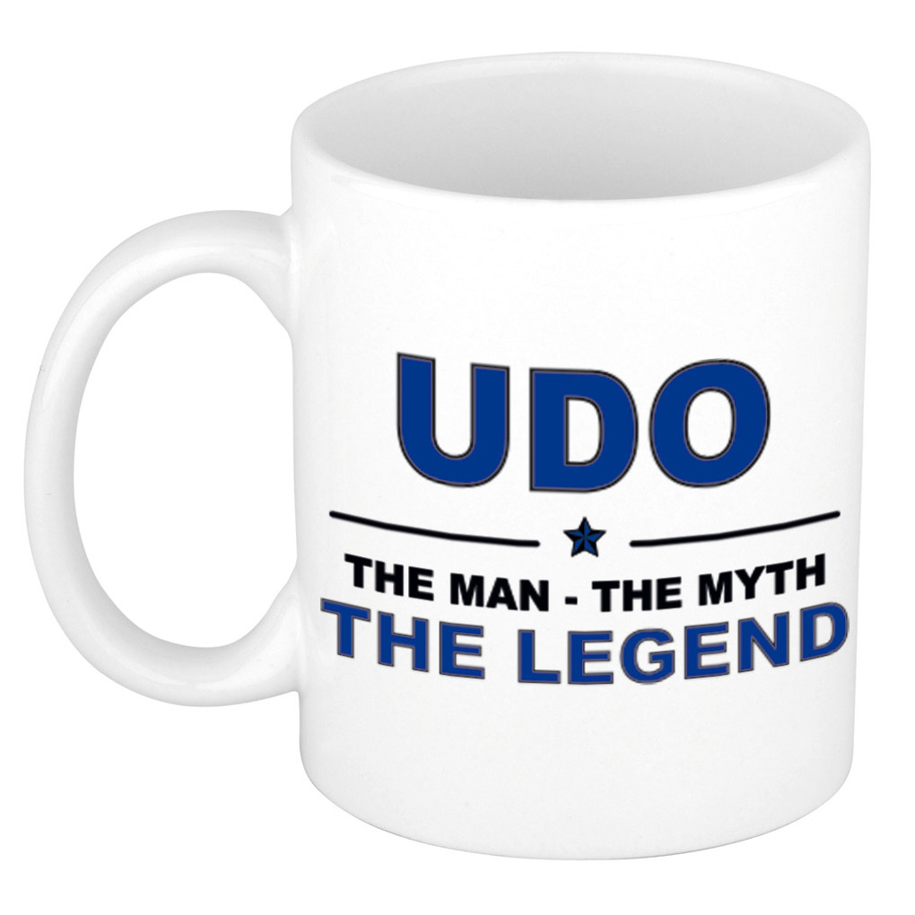 Udo The man, The myth the legend cadeau koffie mok - thee beker 300 ml