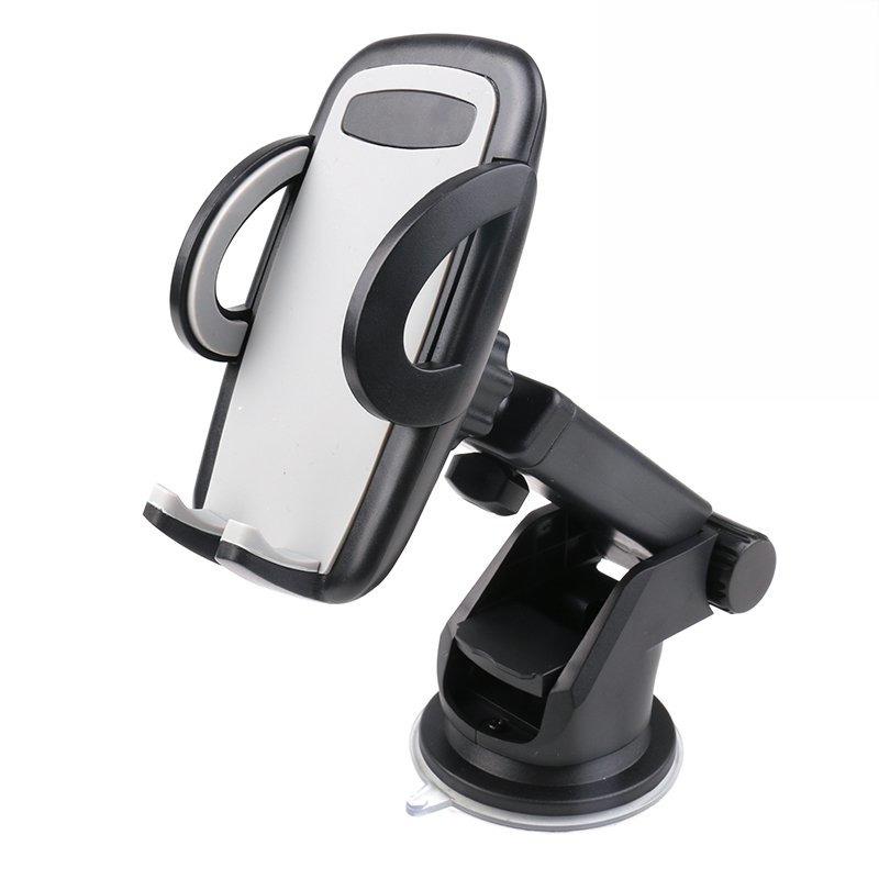 Universele mobiele telefoon houder voor in de auto met zuignap en verstelbare arm zwart