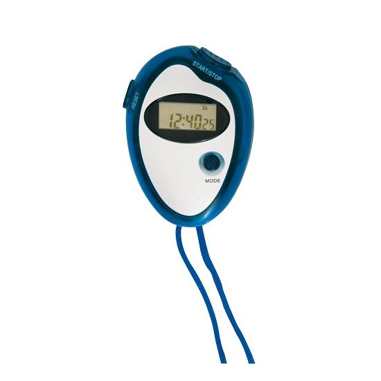 Voordelige sport stopwatch blauw