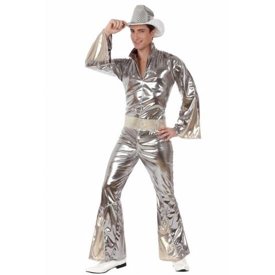 Zilver disco pak voor heren