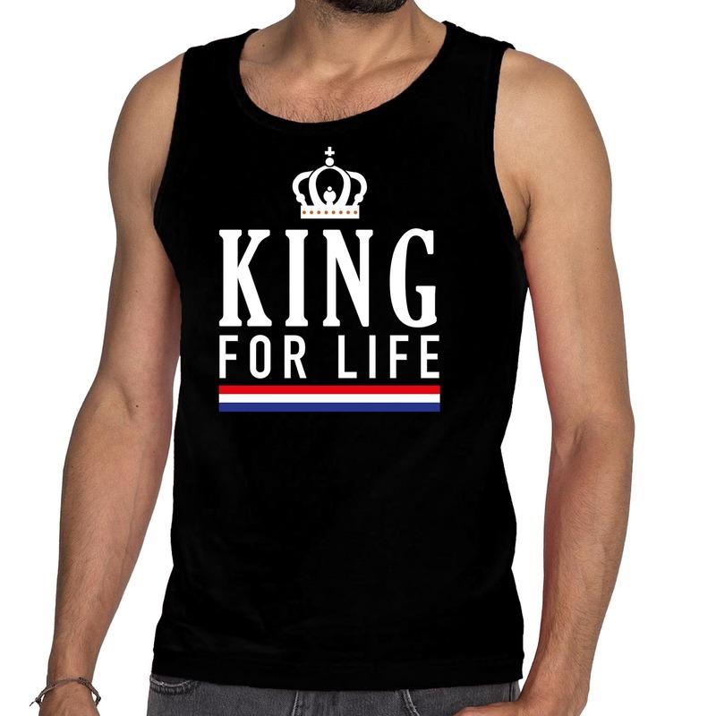 Zwart King for life tanktop - mouwloos shirt voor